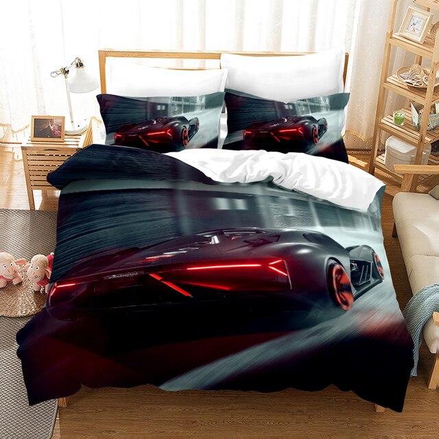 car duvet cover kids comforter car bedding sets 3d queen size bedding set cars sports single kids bed set twin boy quilt covers