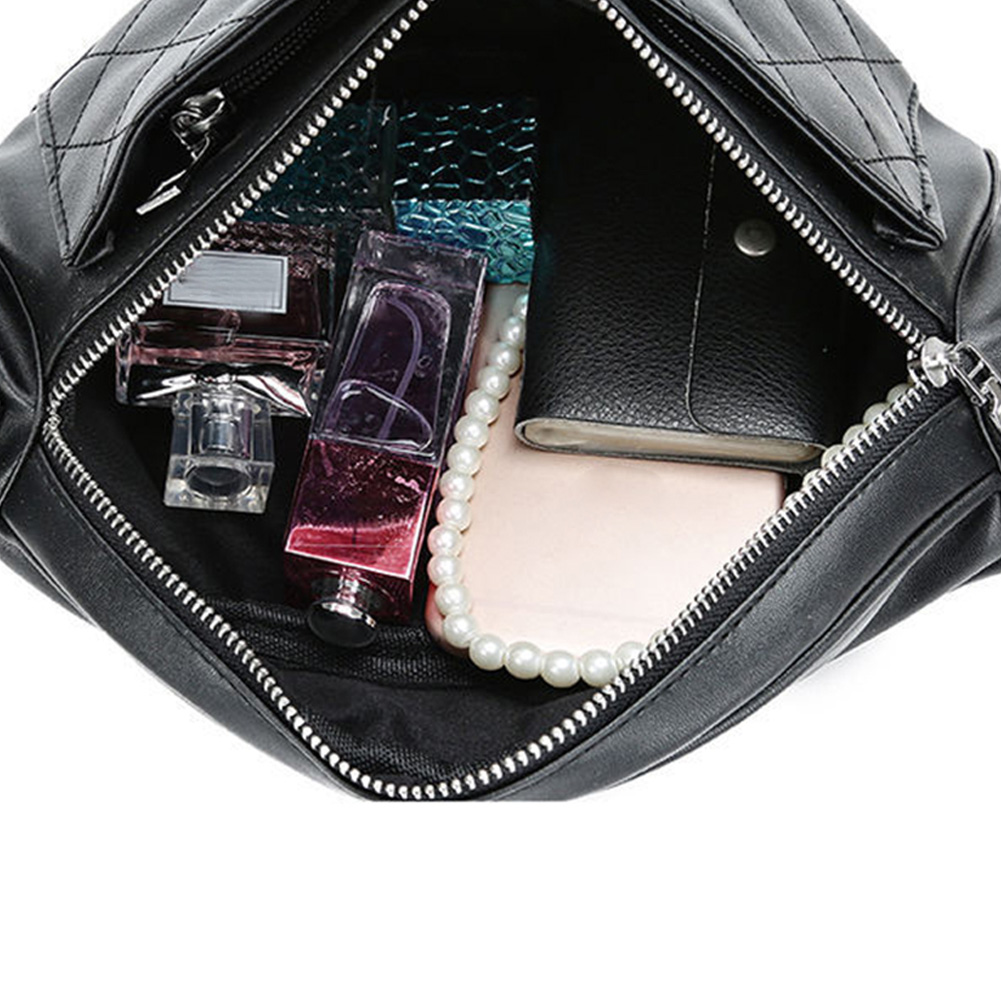 Holographic Waist Bags Women Black Fanny Pack Female Belt Bag Black Geometric Waist Packs Laser Chest Phone Pouch