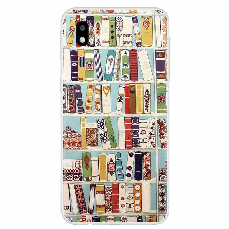 For iPhone 11 Pro 4 4S 5 5S SE 5C 6 6S 7 8 X XR XS Plus Max For iPod Touch Retro Book Shelf Bookshelf Library Silicone Skin Case