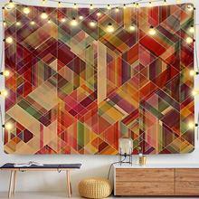 Цветной геометрический декор психоделический гобелен настенный