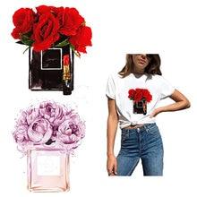 Модный цветочный пластырь с утюгом для одежды DIY моющаяся наклейка на одежду для девочек футболка сумки теплопередача аппликация Y257