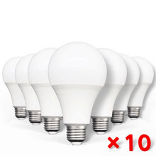 Home LED Lamps Light-Bulb Bombilla Living-Room AC220V 10pcs Real-Power 9W 12W E27 18W
