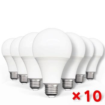 10pcs LED Bulb Lamps E27 AC220V 240V Light Bulb Real Power 20W 18W 15W 12W 9W 5W 3W Lampada Living Room Home LED Bombilla 1