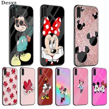 Mobile Phone Glass Case for Huawei P10 P20 P30 P10 P20 P30 Lite Pro P Smart 2018 2019 Cover Mickey Mouse(China)