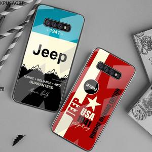 American JEEP Car black Phone Case Hull Tempered Glass For Samsung S20 Plus S7 S8 S9 S10 Plus Note 8 9 10 Plus