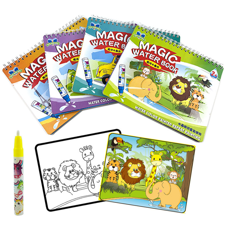 Amazon Hot Selling Children Water Copying Water Album Of Painting-Repeated Use Of CHILDREN'S Picture Books Cross Border