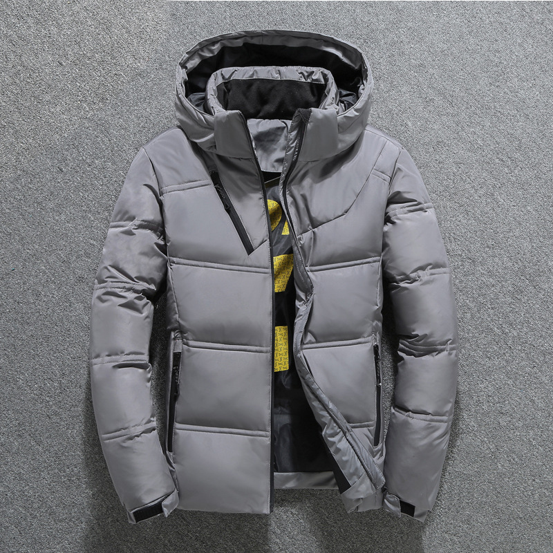 2019 Fashion Winter Jacket Mens White Duck Down Jacket Men Quality Thermal Thick Coat Snow Red Black Parka Male Warm Outwear
