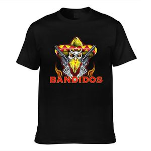 T Shirt Bandidos Fashion Cotton T Shirt Mc Tee for Mens Support Your Local Bandidos Black Size Print Casual Short O-neck Worsted