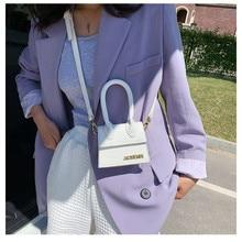Jacquemus-Mini bolsos cruzados para mujer, bolso de marca famosa, de diseñador de lujo, con patrón de cocodrilo, 2021