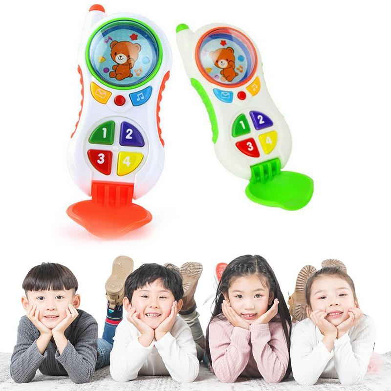 Baby Cell Phone Toy With Sound And Light Multi-function Flip Simulation Educational Kids Children Phone Gift Toys