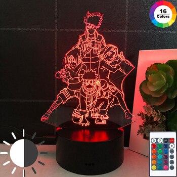 Lámpara LED 3D De Naruto, Luces De Anime, Sensor De luz, lámpara...