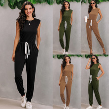 Summer Outfit Bodysuits Sporty New Jumpsuit One-Piece Women Casual Rompers Fitness Sleeveless
