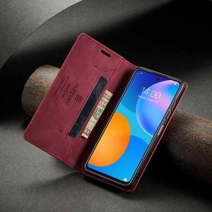 Image 3 - Cho Funda Huawei P Thông Minh 2021 Ốp Lưng Flip Wallet Từ Dành Cho Huawei Psmart 2021 Ốp Lưng Sang Trọng Mờ Da PU ốp Điện Thoại