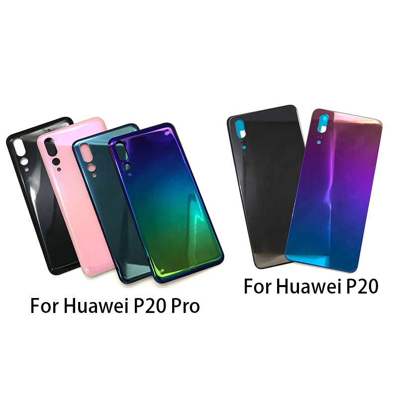 Replacement Glass Battery Back Cover Case  For Huawei P20 Pro