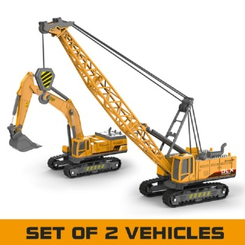 Crane Toy Construction Vehicle 1:50 Diecast Engineering Toys Truck Tractor High Simulation Boys Machine Model Toys For Children
