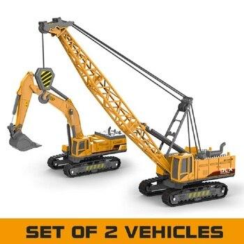 Guindaste brinquedo construção veículo 150 diecast engenharia brinquedos caminhão trator alta simulação meninos máquina modelo brinquedos para crianças