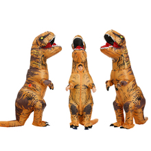 Hot Adult Kids Inflatable Dinosaur Costume Dragon cosplay costumes T REX suit clothes halloween costumes for women men party cosplay halloween party game adult children inflatable suit tyrannosaurus rex dinosaur inflatable clothes show props