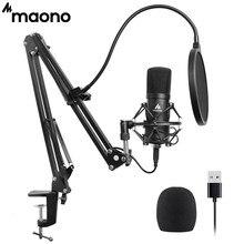 MAONO AU-A04-micrófono condensador profesional para Karaoke, Youtube, grabación de estudio Mikrofon, USB, 192KHZ/24 bits