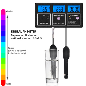 5 em 1 multi-parâmetro ph medidor de ph ce cf temp tds medidor de qualidade da água testador termômetro ec testadores cf condutibilidade monitor 40%