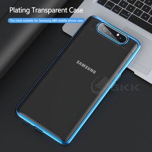 Image 2 - GKK Cassa Di Lusso Originale per Samsung A80 Trasparente Placcatura Protezione Completa Caso Duro Della Copertura per Samsung Galaxy A80 Coque Fundas