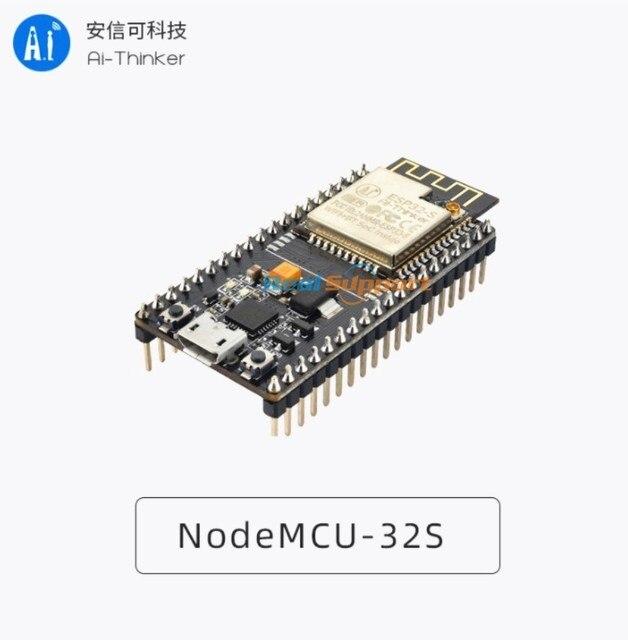 حقيقي ESP32 NodeMCU 32S لوا واي فاي IOT مجلس التنمية ESP32 WROOM 32 ثنائي النواة اللاسلكية واي فاي بليه وحدة Ai المفكر