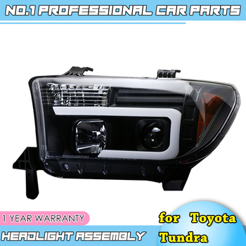 car accessories For Toyota Tundra headlights For Sequoia 2007-2013 YEAR head lamp DRL front Bi-Xenon Lens Double
