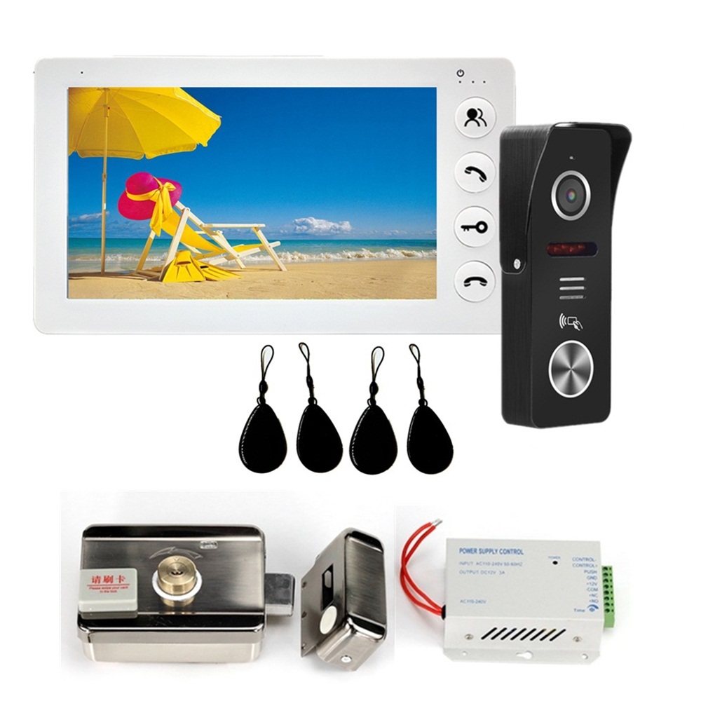 Dragonsview 7 Inch Video Intercom With Doorbell Camera IC Card 1200TVL Day Night Vision