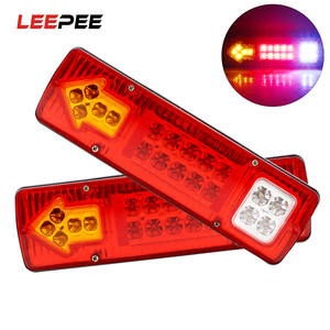 LEEPEE 12V 24V LED Tail Lights Reversing Lights For Trailer Lorries Boat Truck Stop Lights Turn Signal Lamp Car Light Assembly