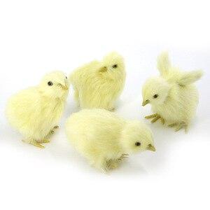 Image 2 - Realistische Harige Baby Chick Levensecht Geluid Kip Pluche Fur Animal Lente Pasen Voor Gift