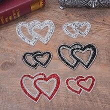 Сердечная форма Любовь Горячая дрель патч одежда сумка шляпа оболочки горячего расплава горячего сверла рисунок