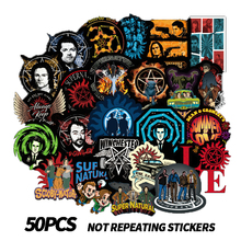 50pcs supernatural power American drama PVC waterproof graffiti stickers skateboard guitar trunk helmet DIY motorcycle stickers