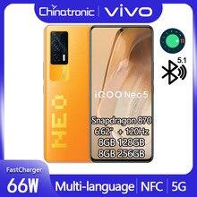 Original neo 5 iqoo neo 5 8gb 128gb 5g telefone móvel snapdragon 870 6.62