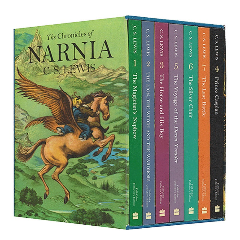 7 Books/Set The Chronicles of Narnia Box Set Children English Reading Story Book Kids Chapter Book Novels