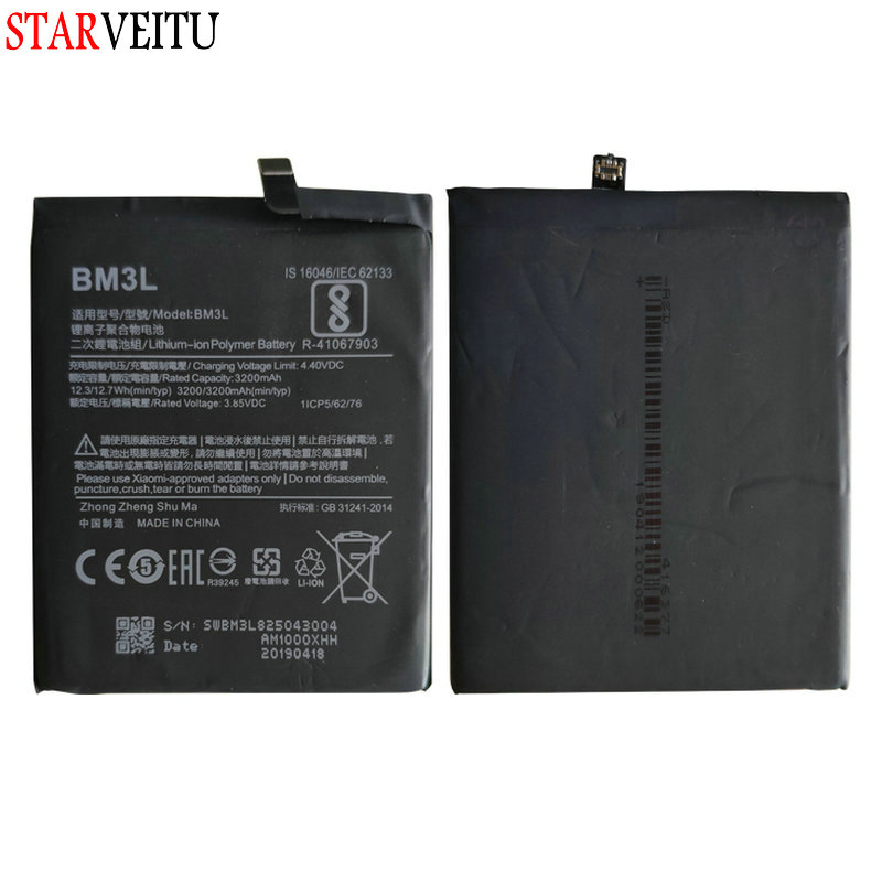 BM3L Battery For Xiaomi Mi 9 6GB/64GB 6GB/128GB Snapdragon <font><b>855</b></font> Replacement Li-on Batteries For Xiaomi <font><b>MI9</b></font> 100% Tested image