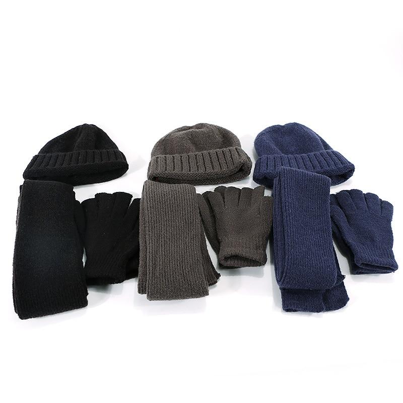 Chapeau écharpe gant ensemble 3 pièces