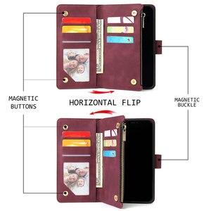 Image 4 - Multifuncional Com Zíper Caso para Coque Samsung Galaxy A21S A31 A51 A71 A50 A70 A40 A10 A41 A21 S A11 A01 UM 71 51 UM 31 21 Tampa Articulada
