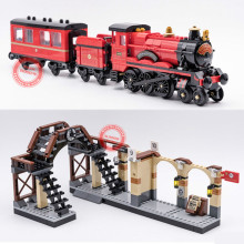 New Movie Express Train station fit  city figures technic Blocks Bricks model Building Toy kid gift diy boy birthday 957pcs my world figures toy building blocks compatible with legoed minecrafted city diy bricks toy gift for boy girl gift new
