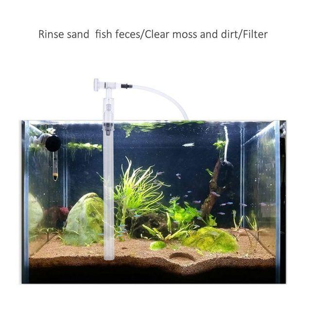 Kit de nettoyage des Aquarium | Pompe à filtre à gravier, nettoyeur de gravier, Siphon daspirateur daquarium et de sable