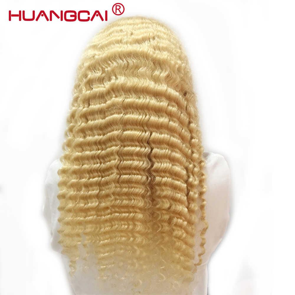 Глубокая волна 613 блонд кружева фронта человеческих волос парик 150% перуанские 13*4 парики шнурка фронта предварительно сорвал с волосами младенца блонд remy волос
