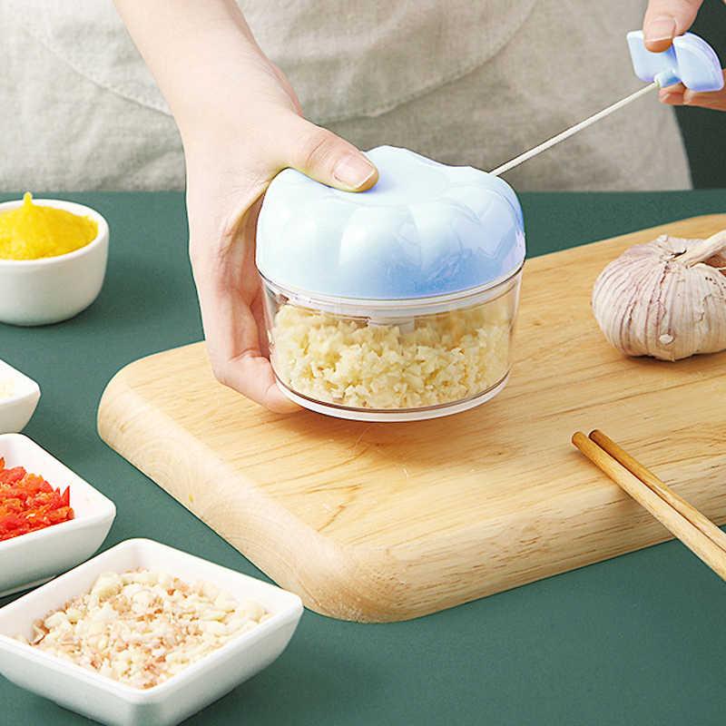 Gemüse Chopper, Manuelle Cutter, Knoblauch Cutter, Knoblauch Pressen Umweltfreundliche Kunststoff Zubehör