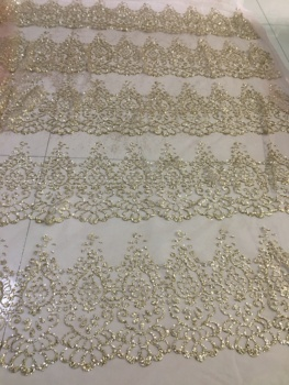 Shining French Lace Fabric Beautiful Glued Glitter Sequin Tulle Lace Fabric Gold African Lace Fabric 2019 for Party Dresses