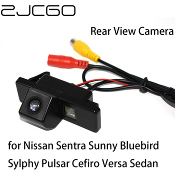 ZJCGO Car Rear View Reverse Back Up Parking Waterproof Camera for Nissan Sentra Sunny Bluebird Sylphy Pulsar Cefiro Versa Sedan image