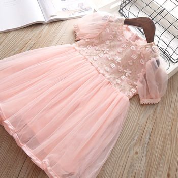 2019 Summer Girl Clothes Kids Dresses For Girls Lace Flower Dress Baby Girl Party Wedding Dress Children Girl Princess Dress 6