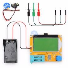LCR T4 Mega328 M328 Multimeter LCD Backlight Transistor Tester Diode Triode Capacitance Meter 12864 Display MOS PNP NPN LCR