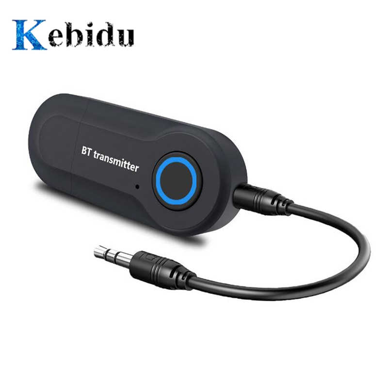 Kebidu Bluetooth Transmitter 3.5 Mm Jack Audio Adapter Nirkabel Bluetooth 4.0 Stereo Audio Transmitter Adaptor untuk Headphone TV