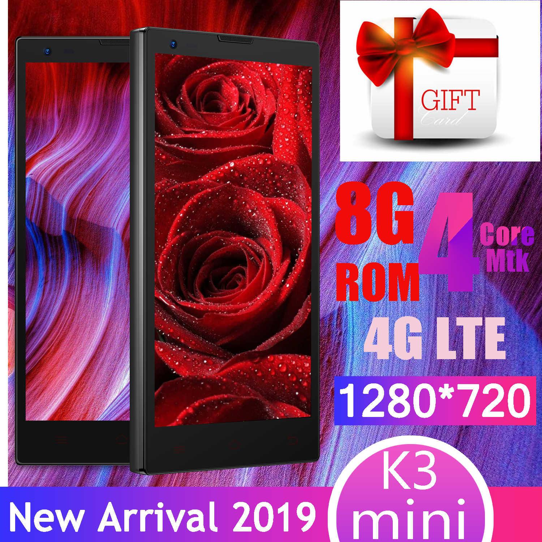 K3 mini smartphones pas cher celulares quad core 1GRAM + 8GROM 4G LTE 8MP Caméra android téléphones portables débloqués 1280x720 MTK6580 wifi