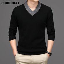 Coodrony Зимний толстый теплый мягкий свитер из чистой мериносовой