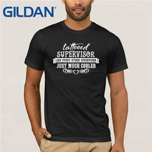 Supervisor T-Shirt - Tattooed Supervisors Are Cooler Sunglasses Men T-Shirt(China)