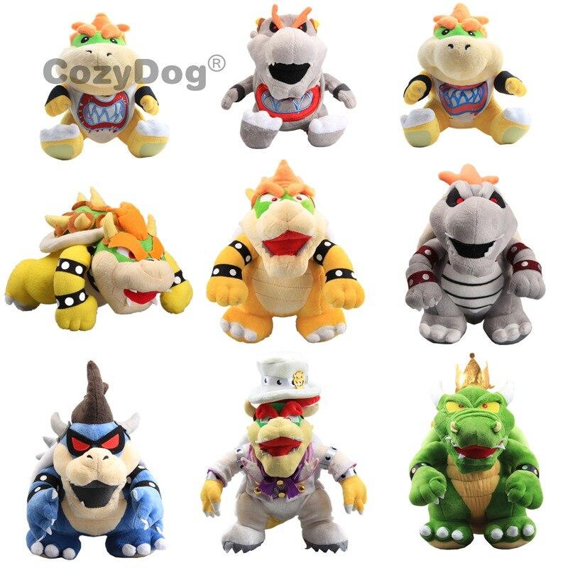 18-36cm 9 styles Mario Bowser Koopa plush toys doll cute Bowser Jr. Bowser Wedding King Koopa stuffed toys baby kids Gift(China)