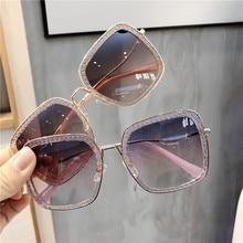 Online Celebrity Celebrity Style Korean-style Sunglasses Women's Generous Frame